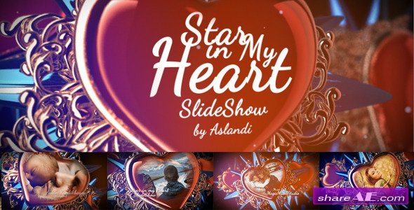 Videohive Valentine Day Star in My Heart SlideShow Photo Gallery