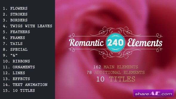 Videohive Romantic Elements & Titles
