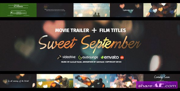 Videohive Love Story - Sweet September