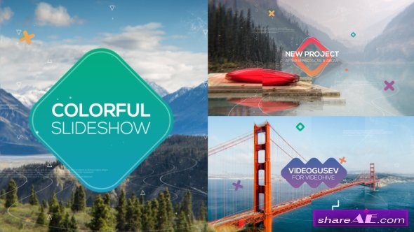 Videohive Colorful Slideshow 18943037