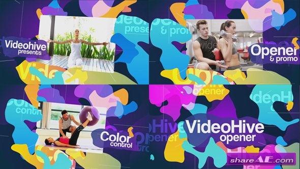 Videohive Colored Blots Opener