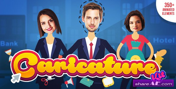 Videohive Caricature Toolkit | Face Cut Out | Explainer video toolkit