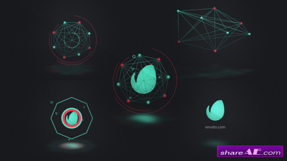 Videohive Connected Shapes Logo Reveal