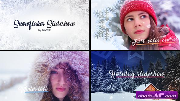 Videohive Snowflake Slideshow