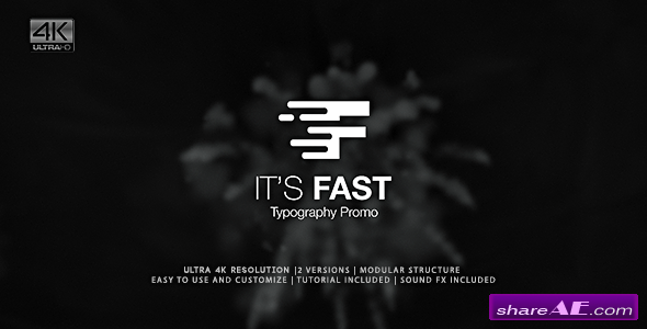 Videohive It's Fast - Typography Promo