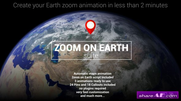 Videohive Zoom On Earth Suite