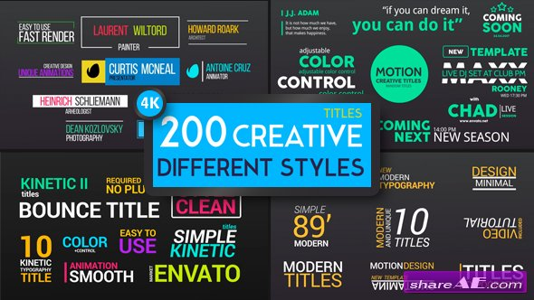 free after effects title templates - videohive titles different styles free after effects