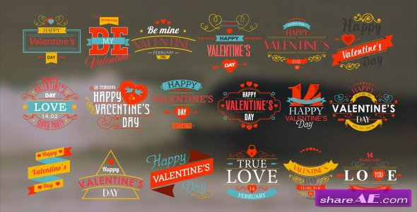 Videohive Happy Valentine's Day Badges Pack