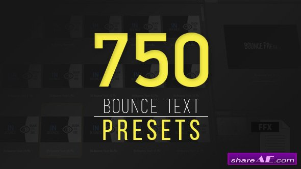 Videohive Ultimatum Bounce Presets