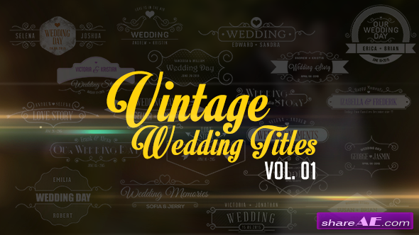 Videohive Vintage Wedding Titles vol. 01