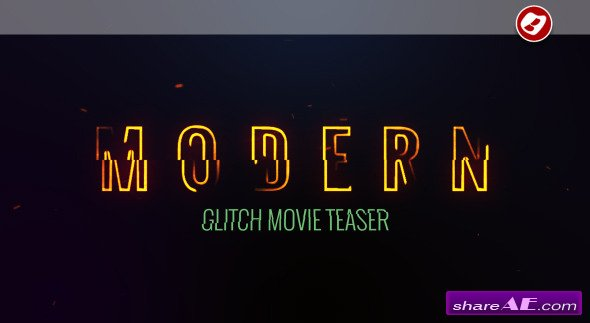 Videohive Modern Glitch Movie Teaser