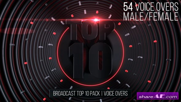 Videohive Broadcast Top 10 Pack | Voice Overs