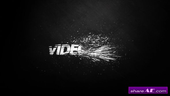 Videohive Black And White Logo Reveal