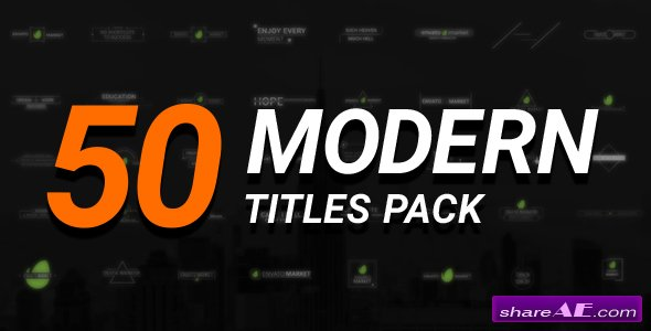 Videohive 50 Modern Titles Pack