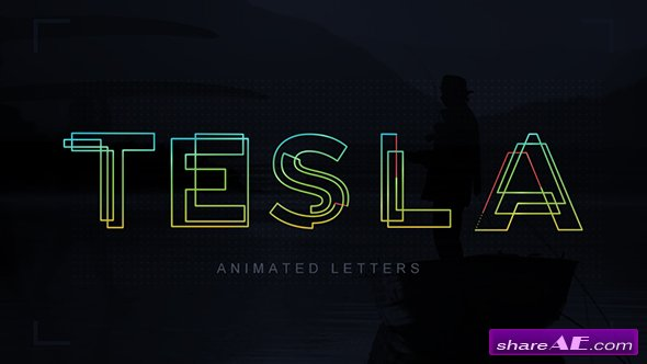 Videohive Tesla Animated Letters