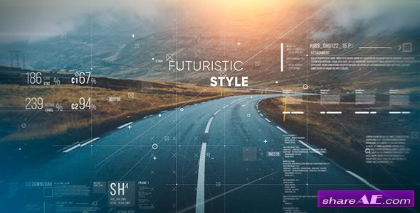 Videohive Futuristic Parallax Slideshow 19195683 Free After Effects Templates