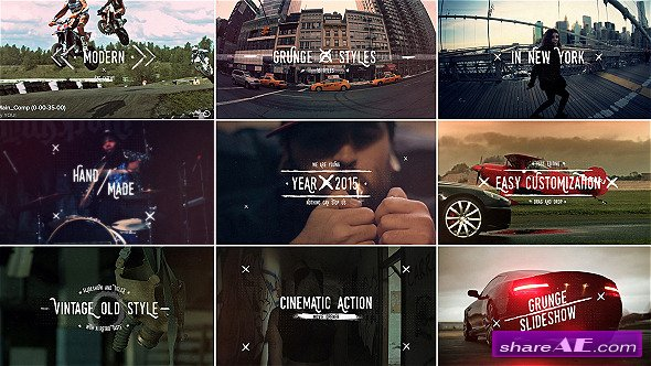 Videohive Grunge Vintage Slideshow Titles
