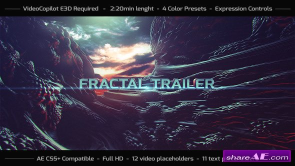 Videohive Fractal Trailer