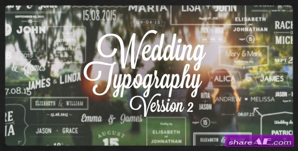 Videohive Wedding Typography Titles � Version 2
