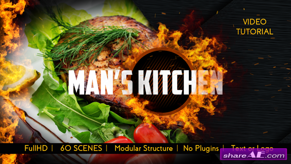 Videohive Men's Kitchen Menu