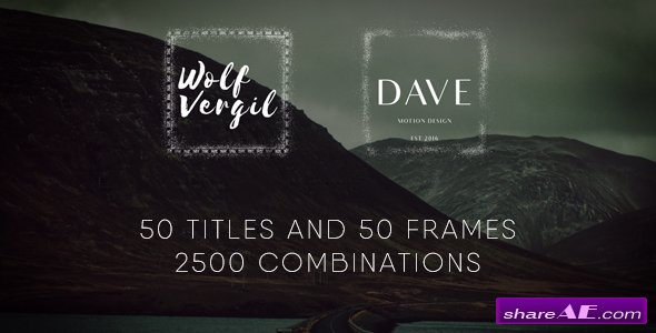 Videohive Title Pack