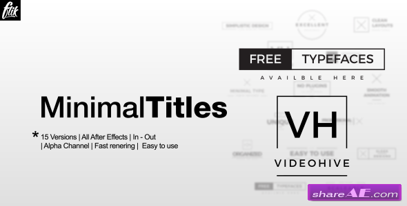 Videohive Ultra Minimal Titles Pack