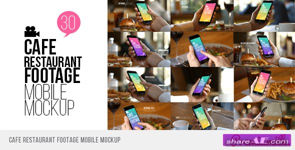Videohive Cafe Restaurant Footage Mobile Mockup