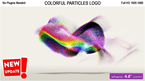 Videohive Colorful Particles Logo