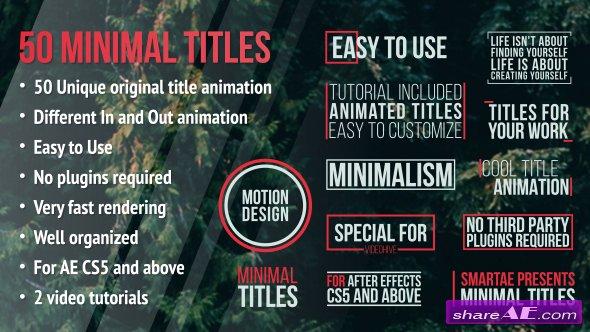 Videohive Minimal Titles 13872337