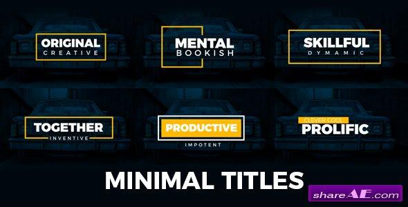 Videohive Minimal Titles 19235796
