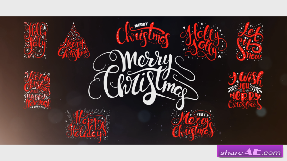 Videohive 10 Hand Drawn Animated Christmas Titles