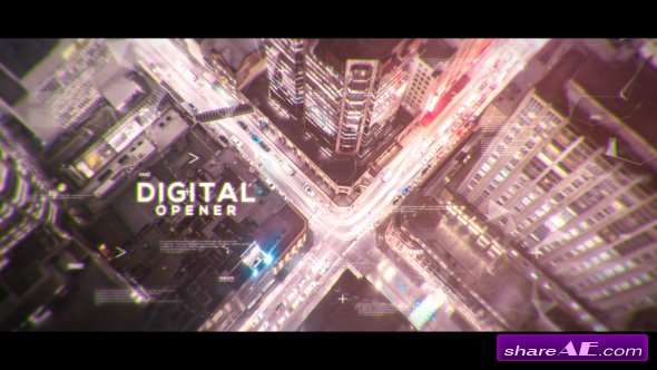 Videohive Digital Parallax Opener | Slideshow