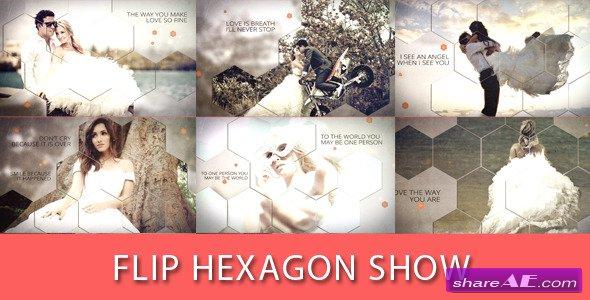 Videohive Flip Hexagon Show