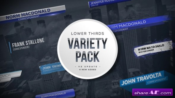 Videohive Lower Thirds Variety Pack