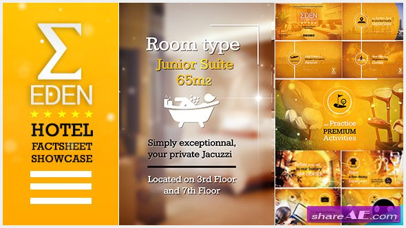 Videohive Hotel Fact-Sheet Showcase » Free After Effects Templates