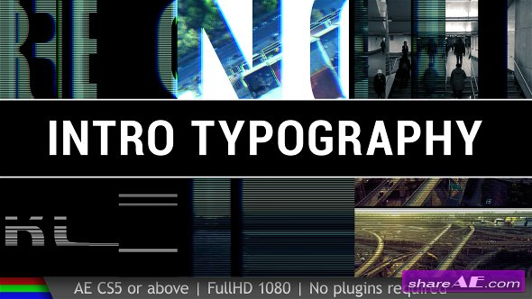 Videohive Intro Typography