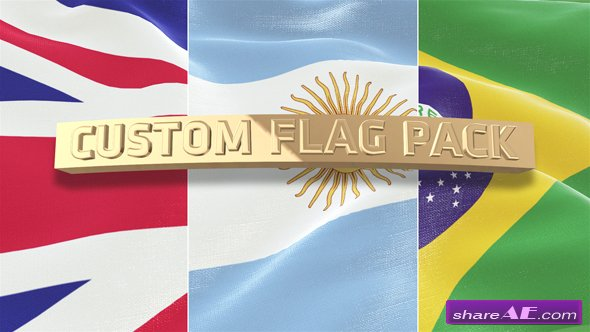 Videohive Custom Flag Pack