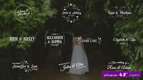 Wedding Titles - After Effects Template (Motion Array)