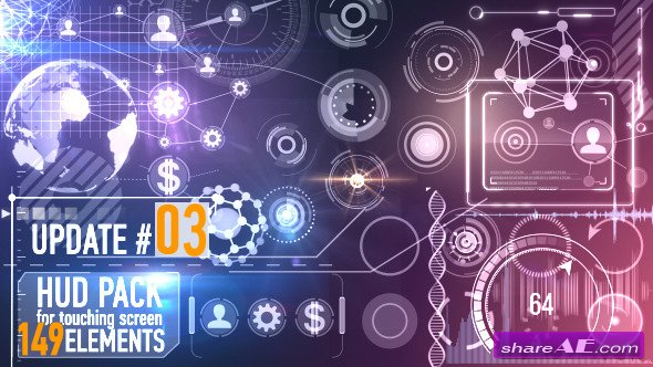 Videohive 149 HUD Elements Pack for Touch Screen