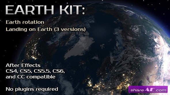 Videohive earth kit free after effects templates after for After effects cs4 intro templates free download