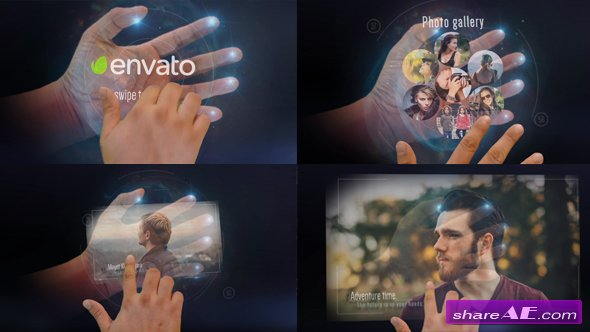 Videohive Interactive Hand Hologram Opener