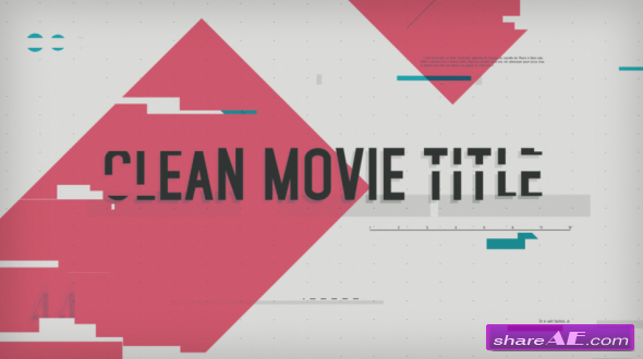 Videohive Clean Movie Title