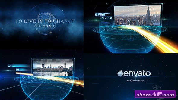 Videohive Earth line And Postcard Opener