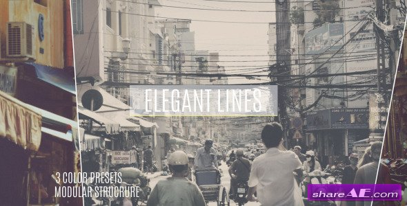 Videohive Elegant Lines Slideshow