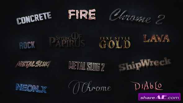Videohive 3D Text Styles Cinematic Trailer ToolKit