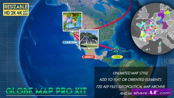 Videohive Globe Map Pro Kit