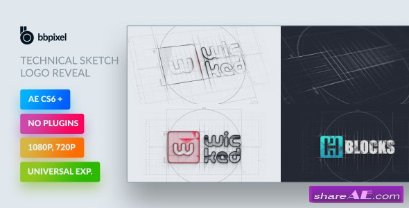 Videohive Technical Sketch Logo Reveal