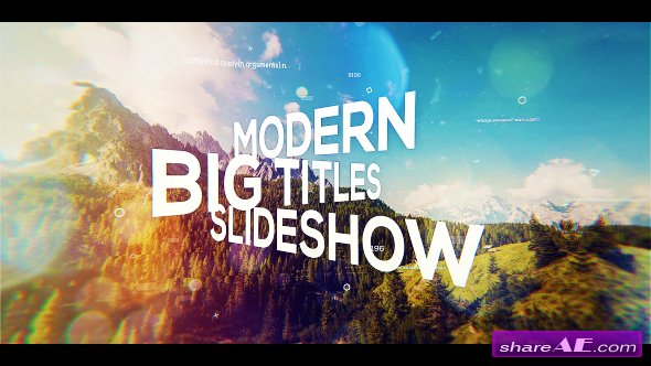 Videohive Big Titles Slideshow