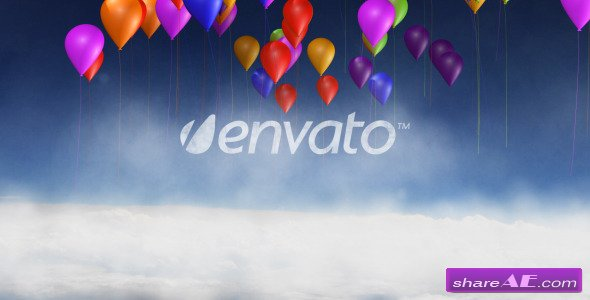 Videohive Cloud And Balloon Logo Reveal