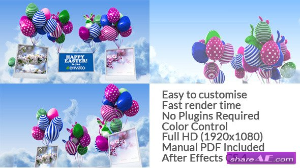 Videohive Easter Balloons